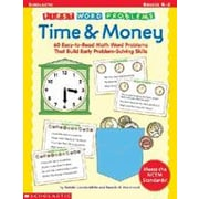 Scholastic First Word Problems: Time and Money Math Workbook ...