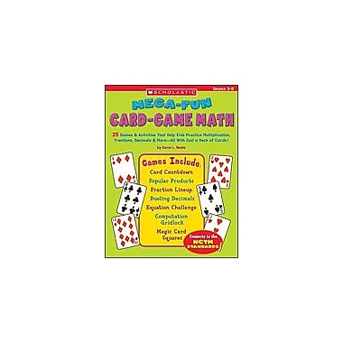 Scholastic Mega-Fun Card-Game Math: Grades 3-5 Puzzles Workbook, Grade 3 - Grade 5 [Enhanced eBook]