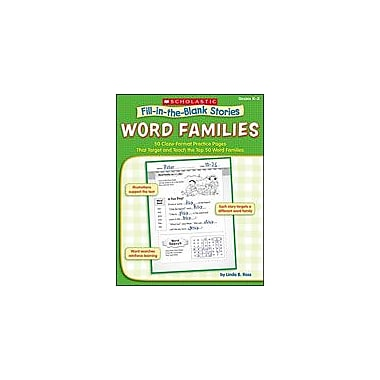 Scholastic Fill-In-The-Blank Stories: Word Families Reading & Writing Workbook, Kindergarten - Grade 2 [eBook]