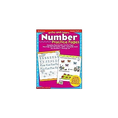 Scholastic Write-And-Learn Number Practice Pages Math Workbook, Preschool - Grade 1 [eBook]