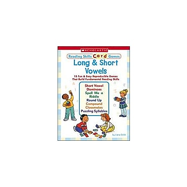 Scholastic Reading Skills Card Games: Long and Short Vowels Reading & Writing Workbook, Kindergarten - Grade 2 [Enhanced eBook]