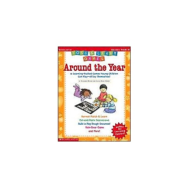 Scholastic Toss and Learn Games: Around the Year Math Workbook, Preschool - Kindergarten [Enhanced eBook]