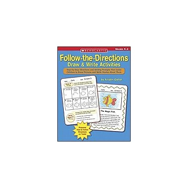 Scholastic Follow-The-Directions Draw & Write Activities Art & Music Workbook, Kindergarten - Grade 2 [Enhanced eBook]