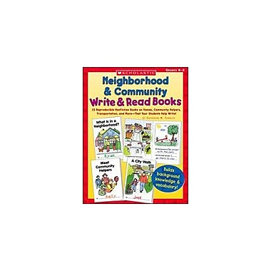 Scholastic Neighborhood & Community Write & Read Books Language Arts Workbook, Kindergarten - Grade 2 [Enhanced eBook]