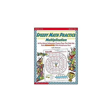 Scholastic Speedy Math Practice: Multiplication Math Workbook, Grade 3 - Grade 5 [eBook]
