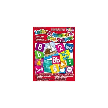 Scholastic Letters, Numbers, and Shapes Reading & Writing Workbook, Preschool - Grade 1 [Enhanced eBook]