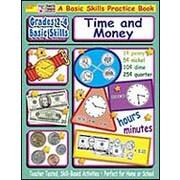 Scholastic Grades 2-4 Basic Skills: Time and Money Math Workbook ...