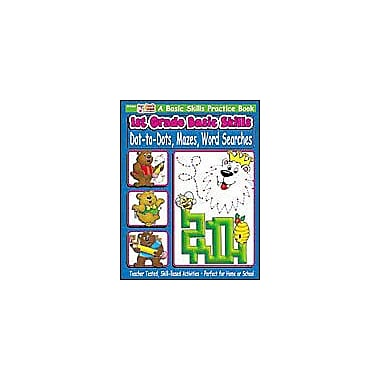 Scholastic 1st Grade Basic Skills: Dot-To-Dots, Mazes, Word Searches Problem Solving Workbook, Grade 1 [eBook]