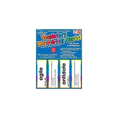 Scholastic Vocabulary Word-A-Day Cards: Grades 6-7 Language Arts Workbook, Grade 6 - Grade 7 [eBook]
