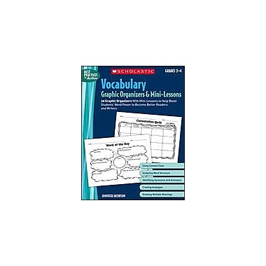 Scholastic Vocabulary Graphic Organizers and Mini-Lessons Language Arts Workbook, Grade 2 - Grade 4 [Enhanced eBook]