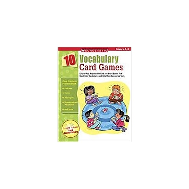 Scholastic 10 Vocabulary Card Games Puzzles Workbook, Grade 3 - Grade 5 [Enhanced eBook]