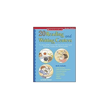 Scholastic 20 Reading and Writing Centers Language Arts Workbook, Kindergarten [Enhanced eBook]