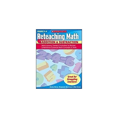 Scholastic Reteaching Math: Addition & Subtraction Math Workbook, Grade 2 - Grade 4 [Enhanced eBook]