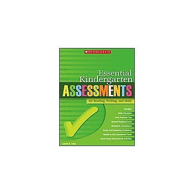 Scholastic Essential Kindergarten Assessments for Reading, Writing, and Math Language Arts Workbook, Kindergarten [eBook]