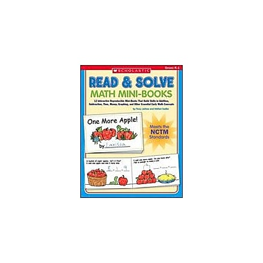 Scholastic Read and Solve Math Mini-Books Math Workbook, Kindergarten - Grade 1 [Enhanced eBook]
