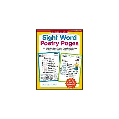 Scholastic Sight Word Poetry Pages Language Arts Workbook, Preschool - Grade 2 [eBook]