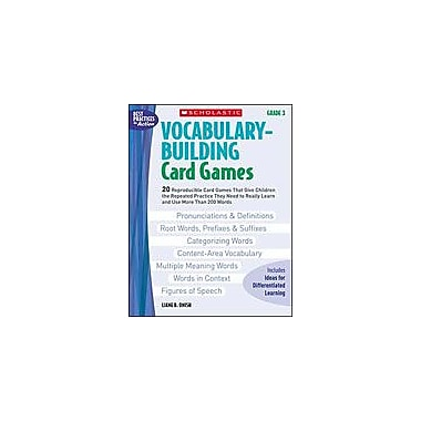 Scholastic Vocabulary-Building Card Games: Grade 3 Puzzles Workbook, Grade 3 [Enhanced eBook]