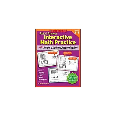 Scholastic Ask and Answer Interactive Math Practice Puzzles Workbook, Grade 2 - Grade 3 [Enhanced eBook]