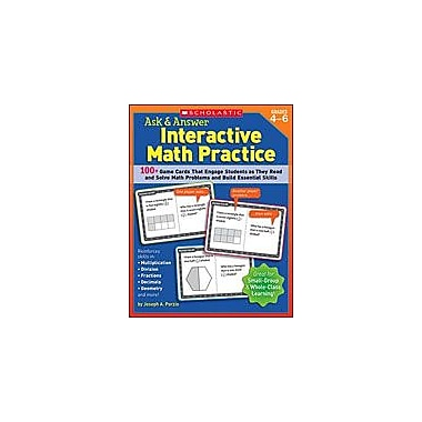 Scholastic Ask and Answer Interactive Math Practice Puzzles Workbook, Grade 4 - Grade 6 [Enhanced eBook]