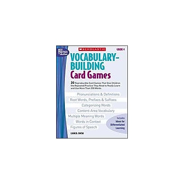 Scholastic Vocabulary-Building Card Games: Grade 4 Puzzles Workbook, Grade 4 [eBook]