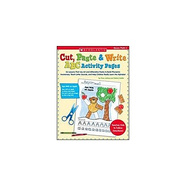 Scholastic Cut, Paste and Write ABC Activity Pages Language Arts Workbook, Preschool - Grade 1 [eBook]