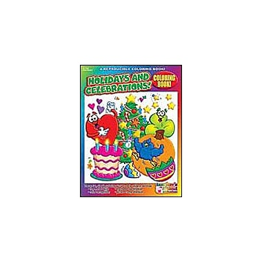 Scholastic Coloring Book: Holidays and Celebrations Art & Music Workbook, Preschool - Kindergarten [Enhanced eBook]