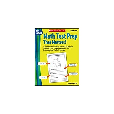 Scholastic Math Test Prep That Matters! Grades 3-4 Math Workbook, Grade 3 - Grade 4 [Enhanced eBook]