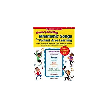 Scholastic Memory-Boosting Mnemonic Songs for Content Area Learning Problem Solving Workbook, Grade 3 - Grade 6 [Enhanced eBook]