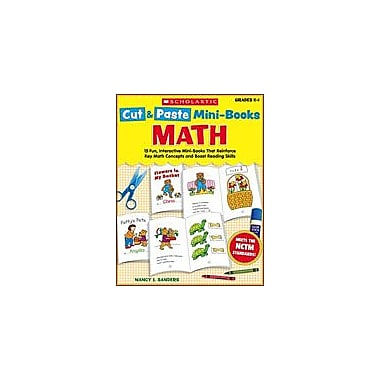 Scholastic Cut and Paste Mini-Books: Math Math Workbook, Kindergarten - Grade 1 [eBook]