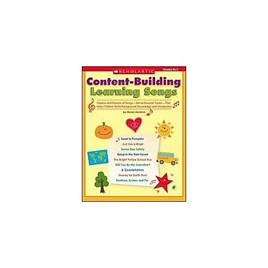 Scholastic Content-Building Learning Songs Art & Music Workbook, Kindergarten - Grade 3 [Enhanced eBook]
