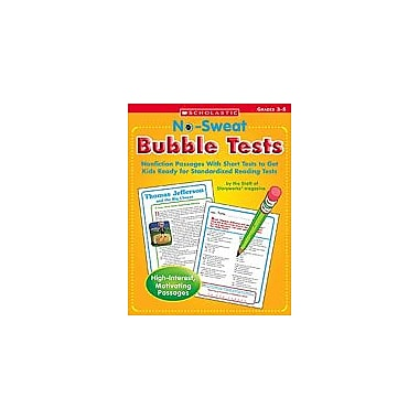 Scholastic No Sweat Bubble Tests Problem Solving Workbook, Grade 3 - Grade 5 [Enhanced eBook]