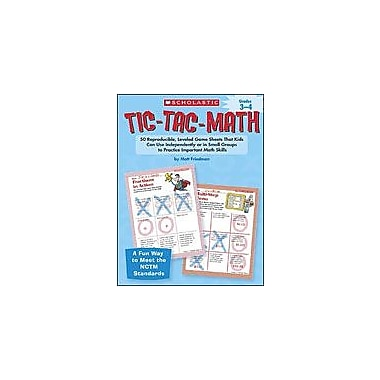 Scholastic Tic-Tac-Math: Grades 3-4 Problem Solving Workbook, Grade 3 - Grade 4 [Enhanced eBook]