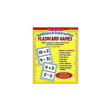 Scholastic Flashcard Games: Addition and Subtraction Math Workbook, Grade 2 - Grade 3 [Enhanced eBook]