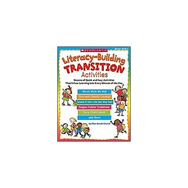 Scholastic Literacy-Building Transition Activities Teacher Planning Workbook, Preschool - Grade 1 [Enhanced eBook]