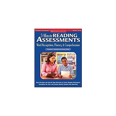 Scholastic 3-Minute Reading Assessments: Word Recognition, Fluency, and Comprehension: Grades 5-8, Grade 5 - Grade 8 [eBook]