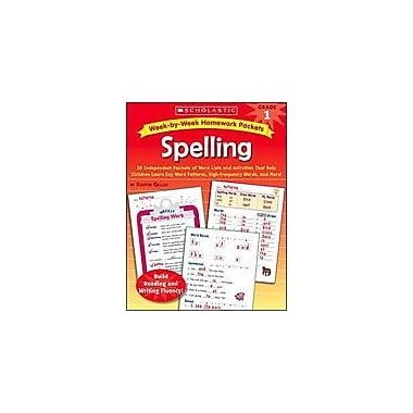 Scholastic Week-By-Week Homework Packets: Spelling Special Needs Workbook, Grade 1 [Enhanced eBook]