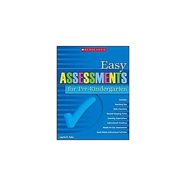 Scholastic Easy Assessments for Pre-Kindergarten Math Workbook, Preschool [eBook]