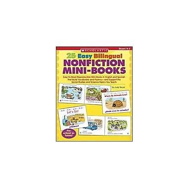 Scholastic 25 Easy Bilingual Nonfiction Mini-Books Language Arts Workbook, Kindergarten - Grade 1 [Enhanced eBook]