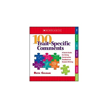 Scholastic 100 Trait-Specific Comments: Grades 3-5 Reading & Writing Workbook, Grade 3 - Grade 5 [Enhanced eBook]