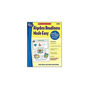 Scholastic Algebra Readiness Made Easy: Grade 3 Math Workbook, Grade 3 [Enhanced eBook]