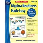 Scholastic - Manuel de mathématique algèbre Algebra Readiness Made Easy, 1re à 2e secondaire [livre numérique]