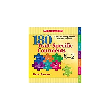Scholastic 180 Trait-Specific Comments: Grades K-2 Reading & Writing Workbook, Kindergarten - Grade 2 [eBook]