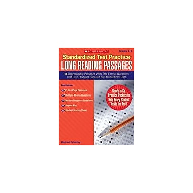 Scholastic Standardized Test Practice: Long Reading Passages: Grades 5-6 Reading & Writing Workbook, Grade 5 - Grade 6 [eBook]
