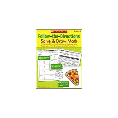 Scholastic Follow-The-Directions: Solve and Draw Math Math Workbook, Grade 3 - Grade 5 [eBook]