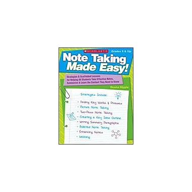 Scholastic Note Taking Made Easy Test Prep Workbook, Grade 5 - Grade 12 [eBook]