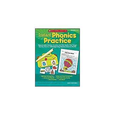 Scholastic Instant Phonics Practice Reading & Writing Workbook, Kindergarten - Grade 3 [Enhanced eBook]