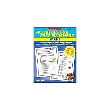 Scholastic Activities for Fast Finishers: Math Math Workbook, Grade 2 - Grade 3 [eBook]