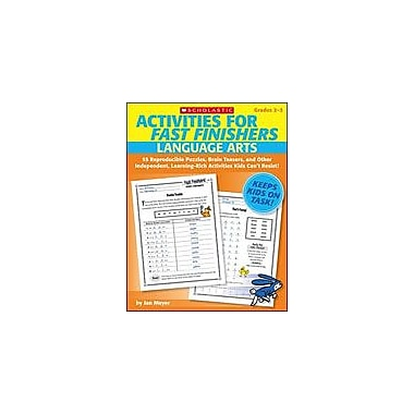 Scholastic Activities for Fast Finishers: Language Arts Problem Solving Workbook, Grade 2 - Grade 3 [eBook]