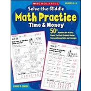 Scholastic Solve-The-Riddle Math Practice: Time and Money Math ...