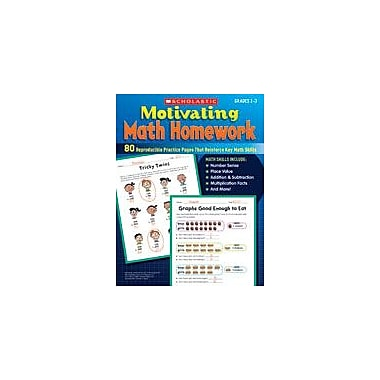 Scholastic Motivating Math Homework Math Workbook, Grade 2 - Grade 3 [eBook]